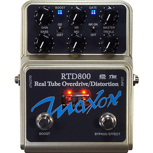 Maxon RTD800 Real Tube Overdrive and Distortion Guitar Effects Pedal