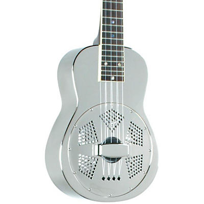 Recording King RU-998 Metal Body Resonator Ukulele Nickel-Plated