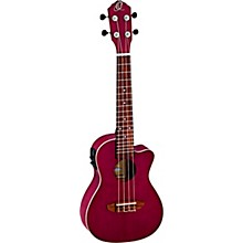 RUDAWN Earth Series Concert Ukulele Transparent Tequila Sunburst Ruby Raspberry