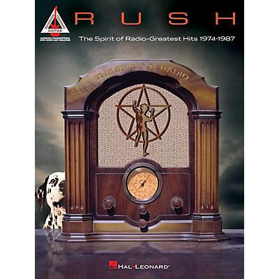 Hal Leonard RUSH - The Spirit of Radio: Greatest Hits 1974-1987 Guitar Tab Songbook