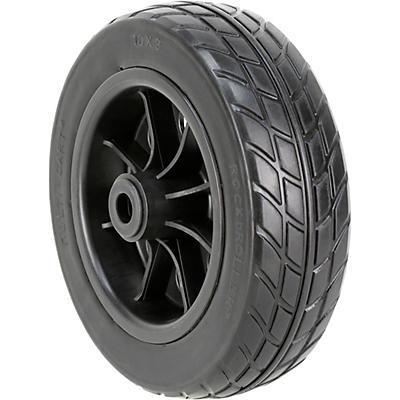 """Rock N Roller RWHLO10X3BK 10 x 3"""" R-Trac Wheel for R10, R12 Carts - Black Hub 2-Pack"""