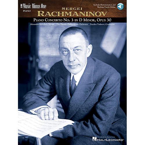 Music Minus One Rachmaninov Concerto No. 3 in D Minor, Op. 30 (3 CD Set) Music Minus One Series CD