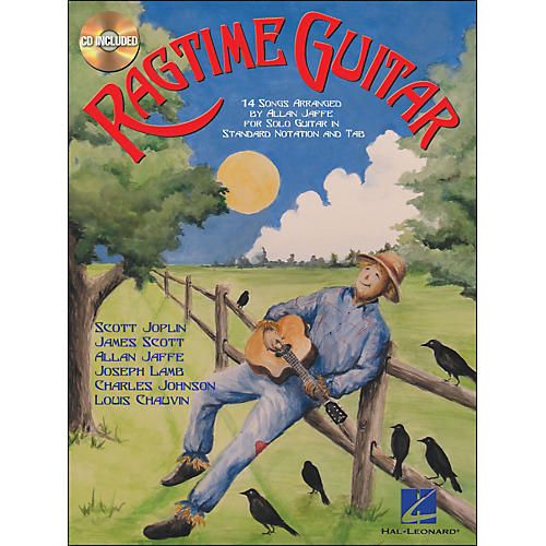 Hal Leonard Ragtime Guitar Book/CD for Solo Guitar In Standard Notation & Tab