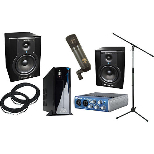 rain computers rainpak computer recording package with m audio bx5a and presonus audiobox 22vsl. Black Bedroom Furniture Sets. Home Design Ideas