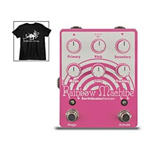 EarthQuaker Devices Rainbow Machine V2 Polyphonic Pitch Shifter Effects Pedal and Octoskull T-Shirt Large Black