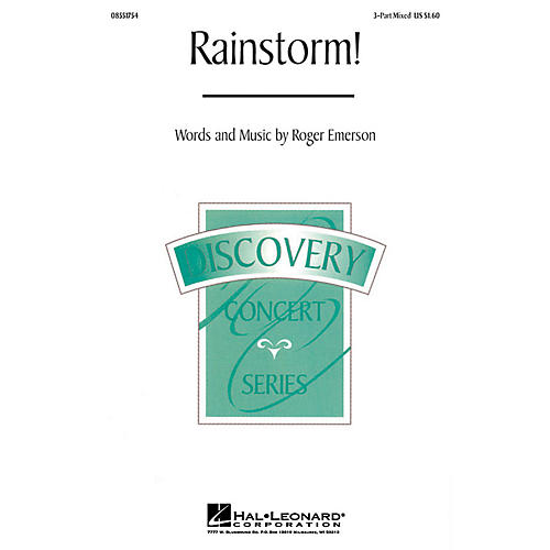 Hal Leonard Rainstorm! 3-Part Mixed composed by Roger Emerson