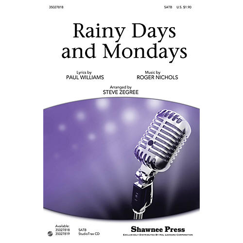 Shawnee Press Rainy Days and Mondays Studiotrax CD by Carpenters Arranged by Steve Zegree