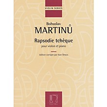 Hal Leonard Rapsodie Tcheque For Violin And Piano (rhapsody) Editions Durand Series
