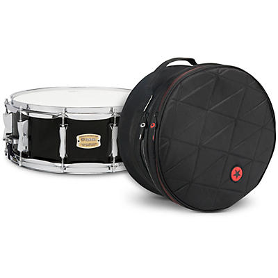 Yamaha Raven Black Stage Custom Birch Snare with Road Runner Bag