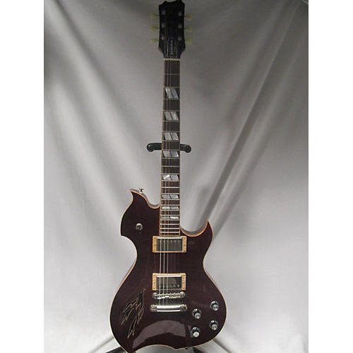 Dynasty Raven Plus Hollow Body Electric Guitar Trans Red