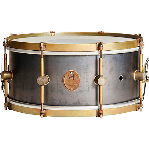 A&F Drum  Co Raw Steel Snare 14 x 6.5 in.