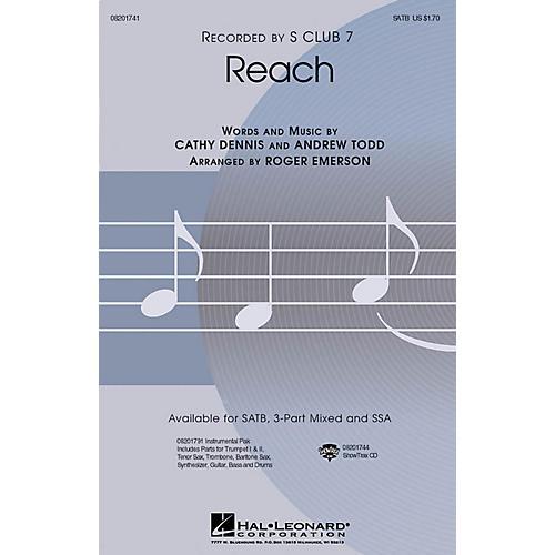 Hal Leonard Reach SATB by S Club 7 arranged by Roger Emerson