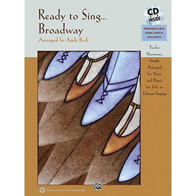 Alfred Ready to Sing . . . Broadway Book & CD