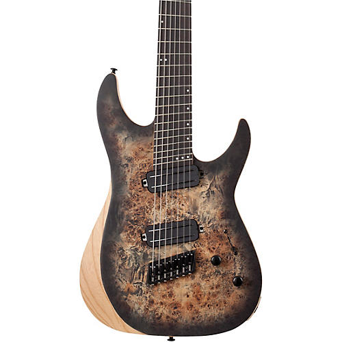 Schecter Guitar Research Reaper-7 MS 7-String Multiscale Electric Guitar Charcoal Burst