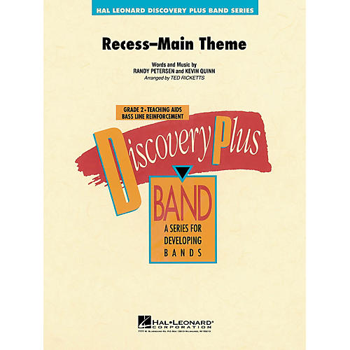 Hal Leonard Recess Main Theme - Discovery Plus Concert Band Series Level 2 arranged by Ted Ricketts