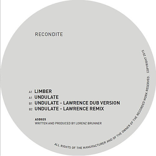 Alliance Recondite - Limber / Undulate - Lawrence Mixes