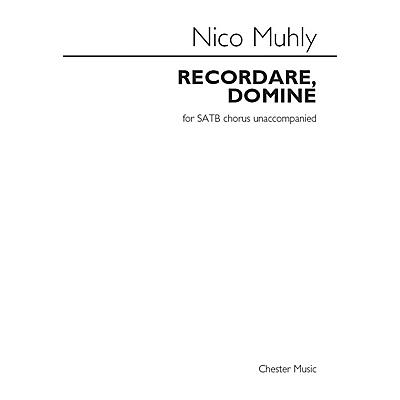 St. Rose Music Publishing Co. Recordare, Domine SATB a cappella Composed by Nico Muhly