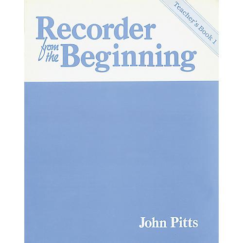 Music Sales Recorder From the Beginning: Teacher's Book 1