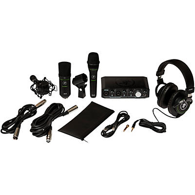 Mackie Recording Bundle with Onyx Producer Interface, EM89D Dynamic Mic, EM91C Condenser Mic and MC-100 Headphones