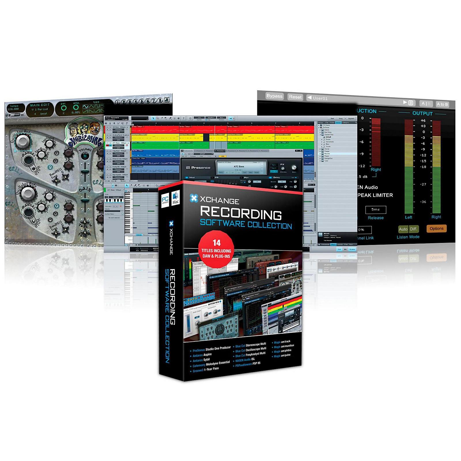 XCHANGE Recording Collection With PreSonus, Antares, Celemony, Blue Cat Audio, Ohm Force and Magix