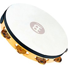 Meinl Recording-Combo Goat-Skin Wood Tambourine One Row Dual Alloy Jingles