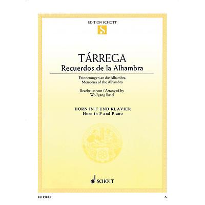 Schott Recuerdos de la Alhambra (Horn and Piano) Brass Series