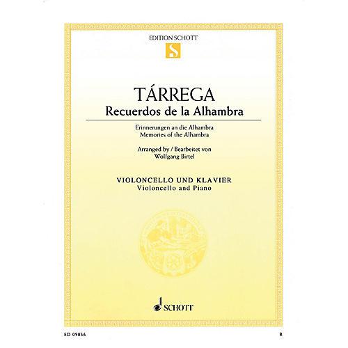 Schott Recuerdos de la Alhambra (Memories of the Alhambra) String Series Softcover Composed by Francisco Tárrega