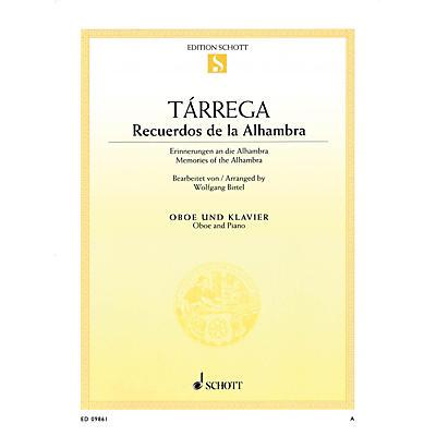 Schott Recuerdos de la Alhambra (Oboe and Piano) Woodwind Series