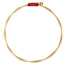 Recycled Guitar String Bracelet Adult Small/Medium Red