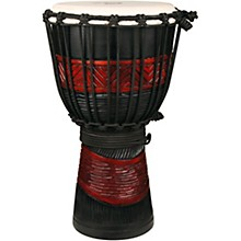 X8 Drums Red Black Djembe