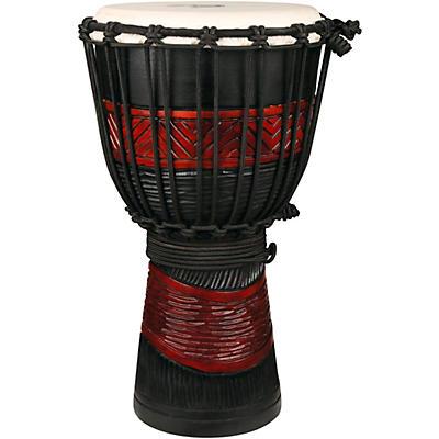 X8 Drums Red Black Djembe