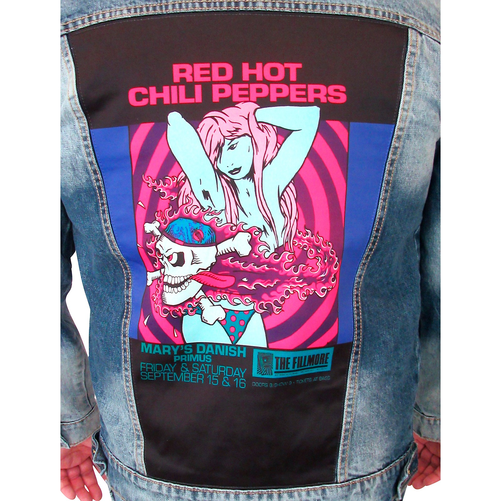 Dragonfly Clothing Red Hot Chili Peppers - Bikini Girl - Mens Denim Jacket