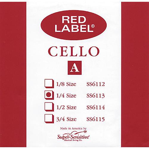 Super Sensitive Red Label Cello A String 1/4