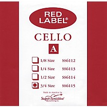 Red Label Cello A String 3/4