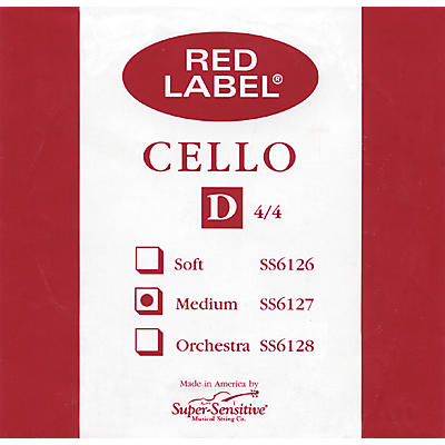 Super Sensitive Red Label Cello D String