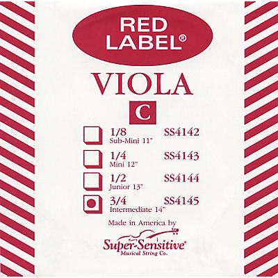 Super Sensitive Red Label Viola C String
