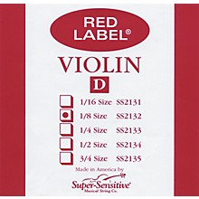 Red Label Violin D String 1/8