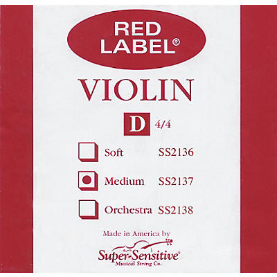 Super Sensitive Red Label Violin D String