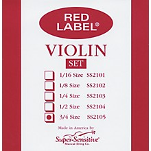 Red Label Violin String Set 3/4