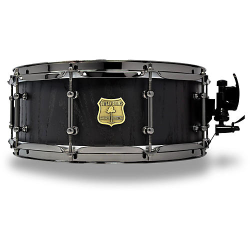 outlaw drums red oak stave snare drum with black chrome hardware musician 39 s friend. Black Bedroom Furniture Sets. Home Design Ideas