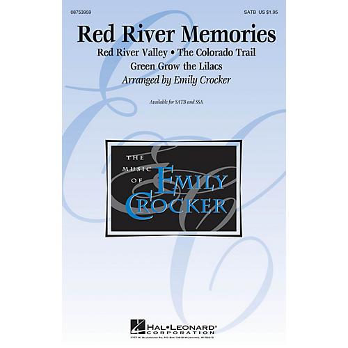 Hal Leonard Red River Memories (Medley) SATB arranged by Emily Crocker