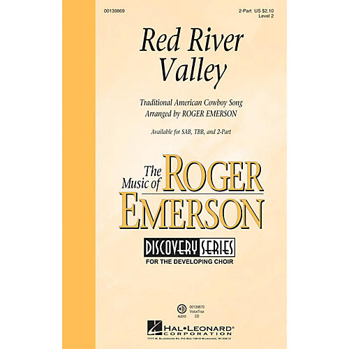 Hal Leonard Red River Valley (Discovery Level 2) 2-Part arranged by Roger Emerson