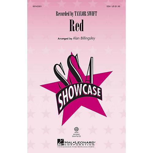 Hal Leonard Red SSA by Taylor Swift arranged by Alan Billingsley