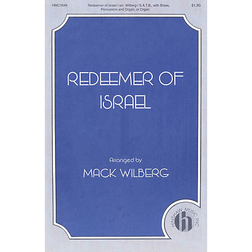 Hinshaw Music Redeemer of Israel SATB arranged by Mack Wilberg