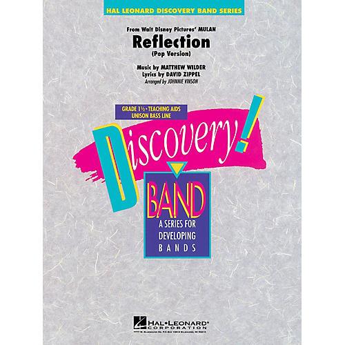 Hal Leonard Reflection (from Mulan) Concert Band Level 1 1/2 Arranged by Johnnie Vinson