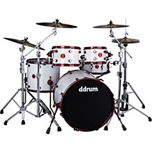Ddrum Reflex White with Red Shell Hardware