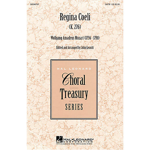 Hal Leonard Regina Coeli SATB composed by Wolfgang Amadeus Mozart