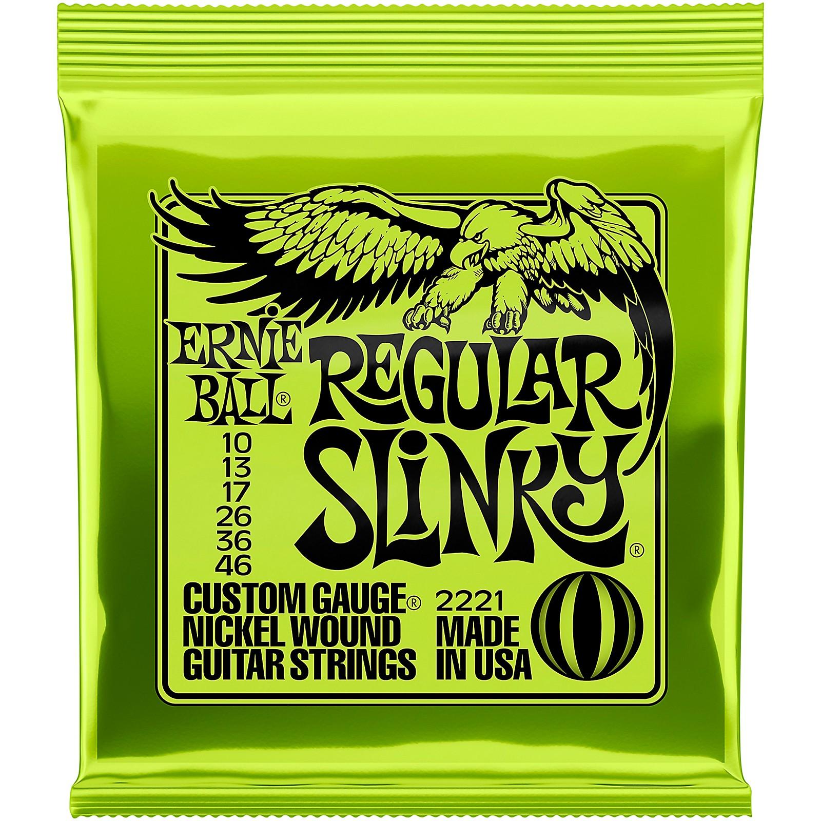 Ernie Ball Regular Slinky 2221 (10-46) Nickel Wound Electric Guitar Strings
