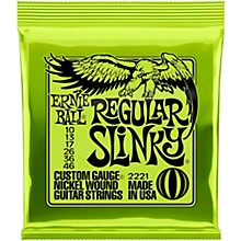 Ernie Ball Regular Slinky 2221 (10-46) Nickel Wound Electric Guitar Strings
