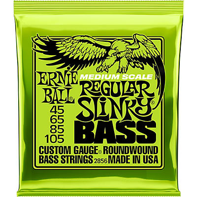 Ernie Ball Regular Slinky Nickel Wound Medium Scale Bass Strings